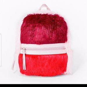NWT Cat & jack faux fur backpack